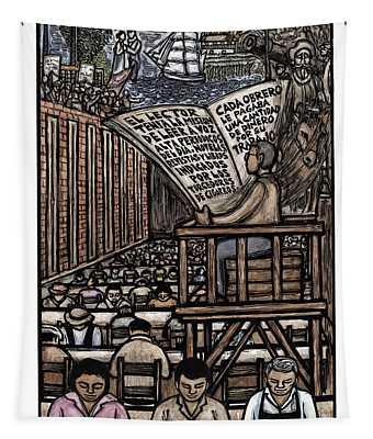 El Lector Tapestry by Ricardo Levins Morales