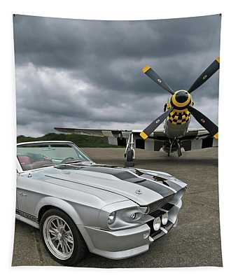 Eleanor Mustang With P51 Tapestry