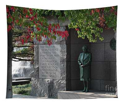 Eleanor's Alcove At The Fdr Memorial In Washington Dc Tapestry