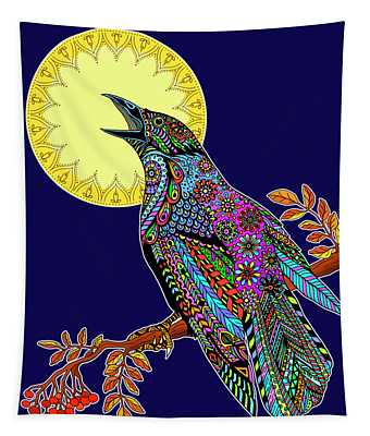 Electric Crow Tapestry