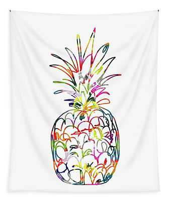 Electric Pineapple - Art By Linda Woods Tapestry