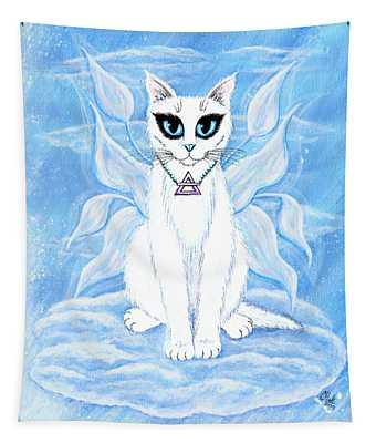 Elemental Air Fairy Cat Tapestry