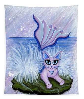 Elemental Water Mermaid Cat Tapestry