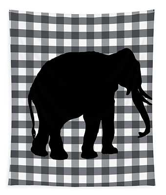 Elephant Silhouette Tapestry