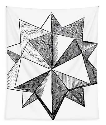 Elevated Solid Icosahedron  Tapestry