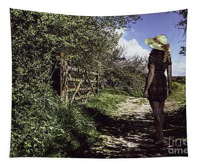 Eliza's Walk In The Countryside. Tapestry