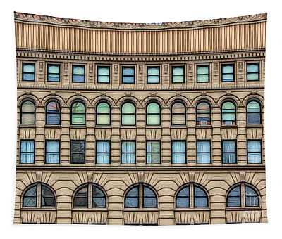 Ellicott Square Building Buffalo Ny Ink Sketch Effect Tapestry