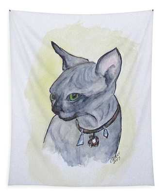 Else The Sphynx Kitten Tapestry