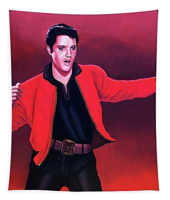 Elvis Presley 4 Painting Tapestry