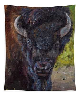 Elvis The Bison Tapestry