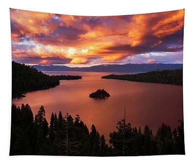 Emerald Bay Fire Tapestry