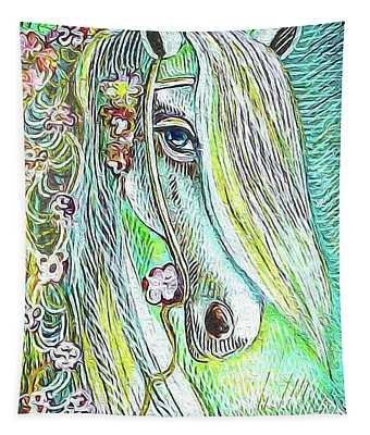 Emerald Horse Tapestry