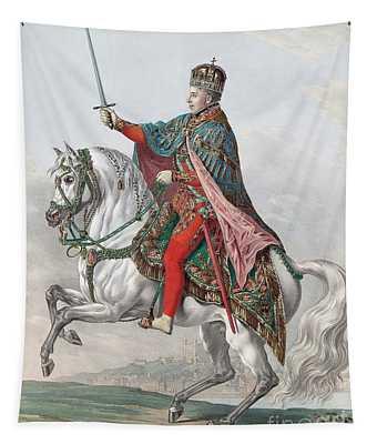 Emperor Ferdinand I Of Austria On Horseback Tapestry