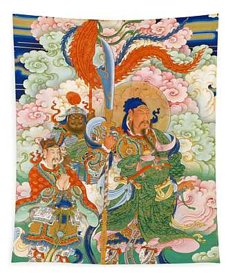 Emperor Guan, Hanging Scroll Tapestry