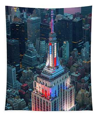 Empire State From Above Tapestry