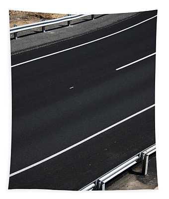 Empty Highway Tapestry