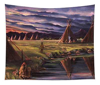 Encampment At Dusk Tapestry