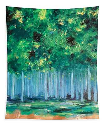 Enchanted Poplars Tapestry