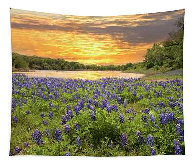 End Of A Bluebonnet Day Tapestry