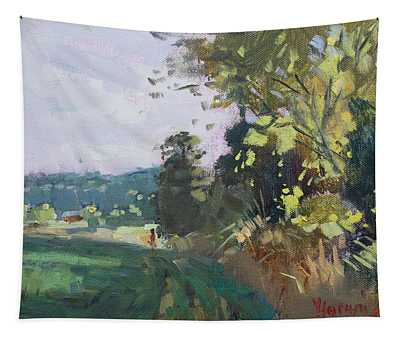 End Of The Day In The Farm  Tapestry