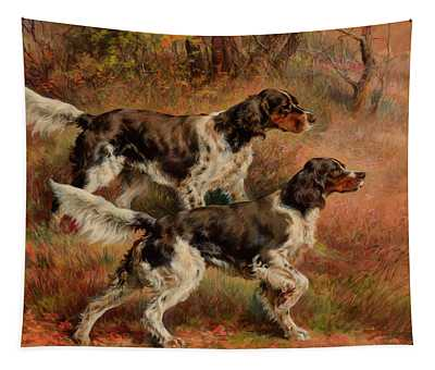 English Setters Tapestry