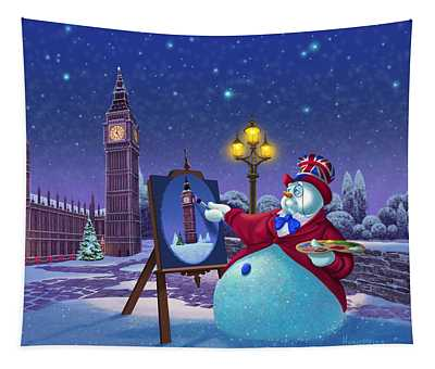 A Jolly Good Christmas Tapestry