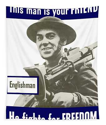 Englishman - This Man Is Your Friend Tapestry