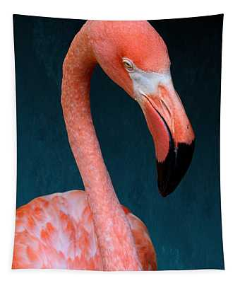 Entirely Unimpressed Flamingo Tapestry