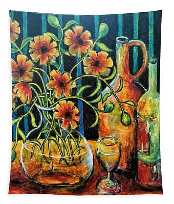 Entwining Poppies Tapestry