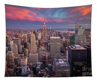 Epic Manhattan Sunset Tapestry