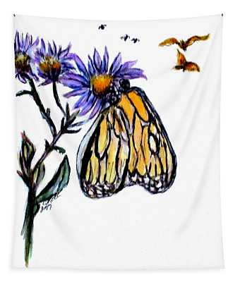 Erika's Butterfly One Tapestry