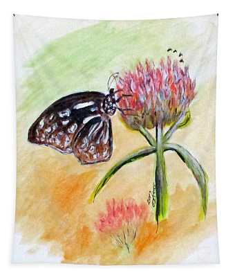 Erika's Butterfly Two Tapestry