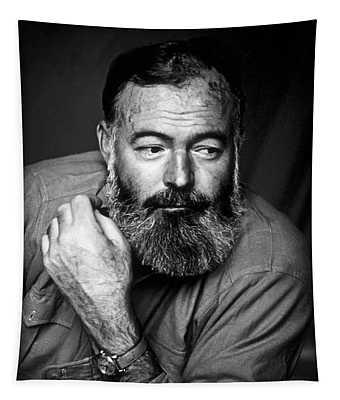 Ernest Hemingway 1944 Tapestry