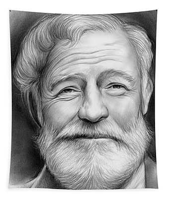 Ernest Hemingway Tapestry