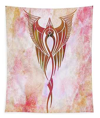 Ethereal Flight Contemporary Minimalism Tapestry