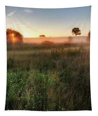Ethereal Sunrise Square Tapestry