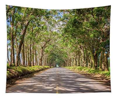 Eucalyptus Tree Tunnel - Kauai Hawaii Tapestry