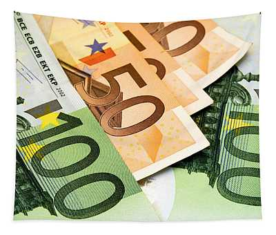 Euro Banknotes Tapestry