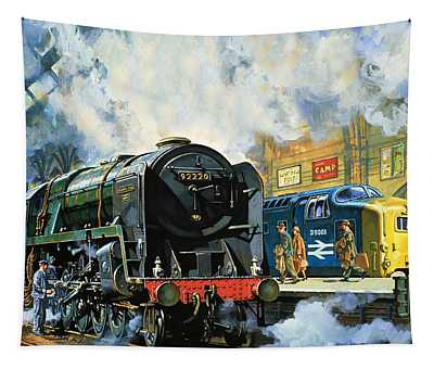 Evening Star, The Last Steam Locomotive And The New Diesel-electric Deltic Tapestry