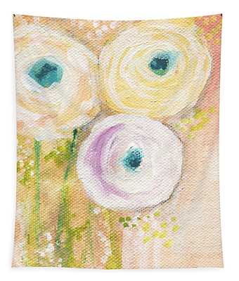 Everlasting- Expressionist Floral Painting Tapestry