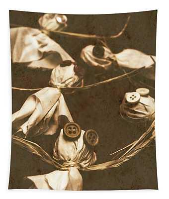 Evil B-grade Horror Dolls Tapestry