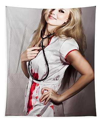 Evil Nurse Tapestry
