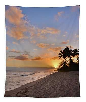 Ewa Beach Sunset 2 - Oahu Hawaii Tapestry