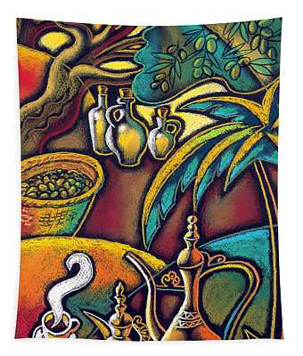 Exotic East, Coffee And Olive Oil Tapestry
