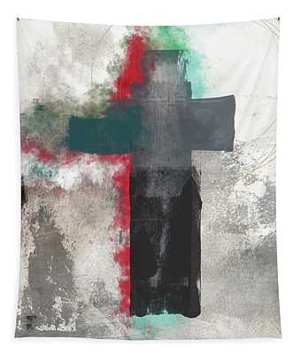 Expressionist Cross 4- Art By Linda Woods Tapestry