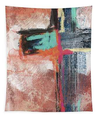 Expressionist Cross 5- Art By Linda Woods Tapestry