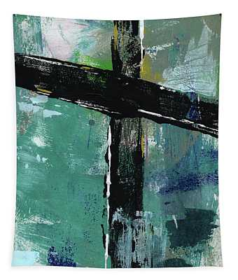 Expressionist Cross 8- Art By Linda Woods Tapestry