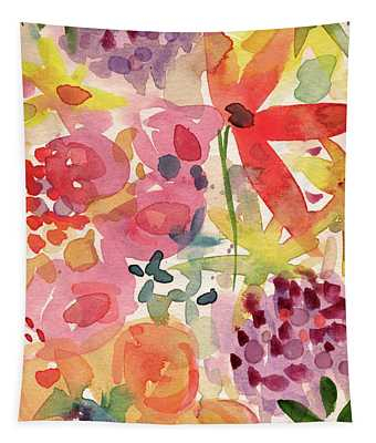 Expressionist Fall Garden- Art By Linda Woods Tapestry