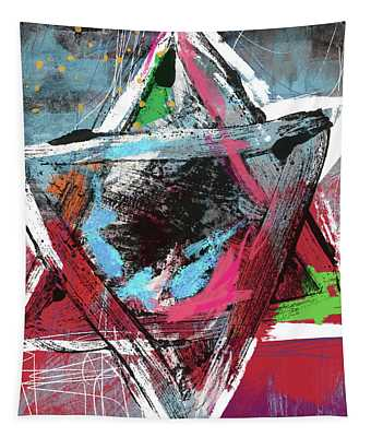 Expressionist Star Of David- Art By Linda Woods Tapestry