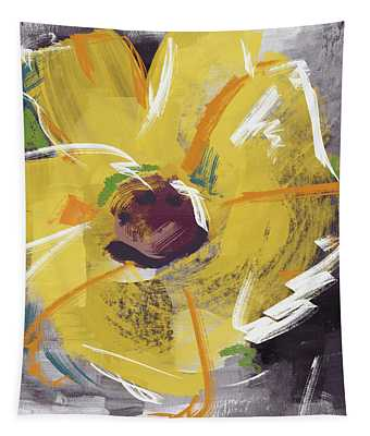 Expressionist Sunflower- Art By Linda Woods Tapestry